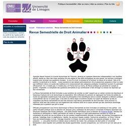 » Revue Semestrielle de Droit Animalier