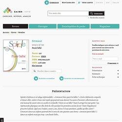 Revue Spirale 2012/2