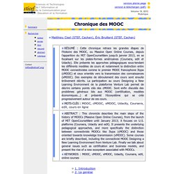 Revue sticef.org : chronique des MOOCs