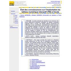 Revue sticef.org