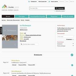 Revue Le Télémaque 2010/2, Adolescences
