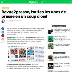 Revue2presse, agrégateur visuel des unes de presse écrite