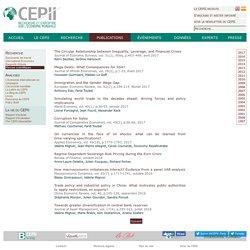 CEPII - Revues Scientifiques