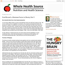 Whole Health Source: Food Reward: a Dominant Factor in Obesity, Part V
