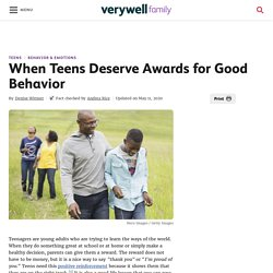 How to Reward Your Teen for Good Behavior