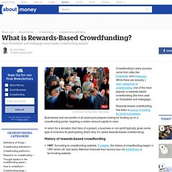 What is rewards-based crowdfunding?