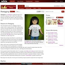 Rewigging An American Girl Doll
