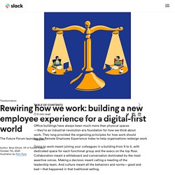 Slack's Future Forum - Remote Employee Experience Index