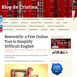 Rewordify: a Free Online Tool to Simplify Difficult English
