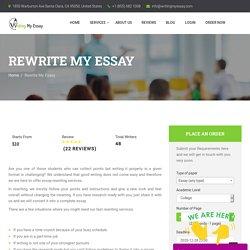 Rewrite My Essay Help - WritingMyEssay.com
