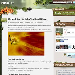 10 Mod Rewrite Rules You Should Know - Noupe Design Blog
