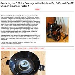 Rexair Rainbow Vacuum Repair Instructions