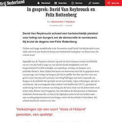 In gesprek: David Van Reybrouck en Felix Rottenberg