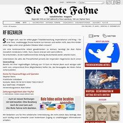 Красное знамя коммунистическая газета германии