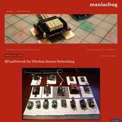 RF24Network for Wireless Sensor Networking