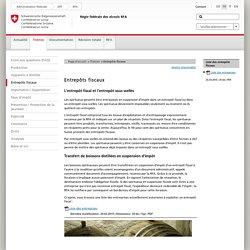 RFA - Entrepôts fiscaux