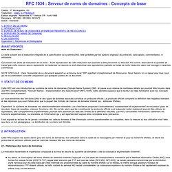 RFC 1034 : DNS