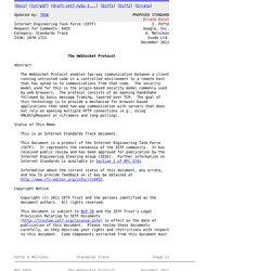 RFC 6455 - The WebSocket Protocol