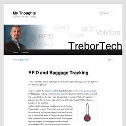 RFID and Baggage Tracking
