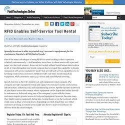 RFID Enables Self-Service Tool Rental