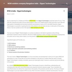 RFID in India - Digant technologies