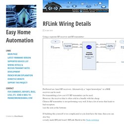 RFLink Wiring Details ⋅ Easy Home Automation