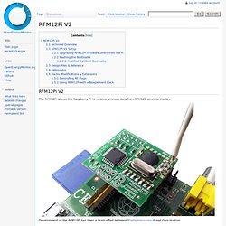 RFM12Pi V2 - OpenEnergyMonitor Wiki