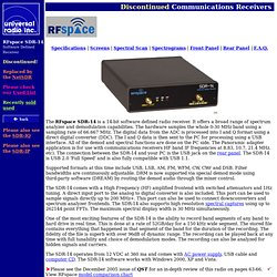 RFspace SDR-14 Software Defined Receiver, RF Space sdr14