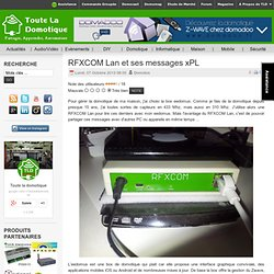 RFXCOM Lan et ses messages xPL