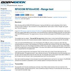 RFXCOM RFXtrx433E - Range test