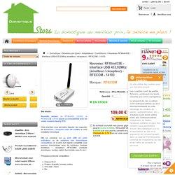 Nouveau: RFXtrx433E - Interface USB 433,92Mhz (émetteur / récepteur) - RFXCOM - 14103