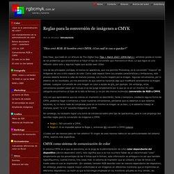 rgbcmyk - Reglas para la conversión de imágenes a CMYK