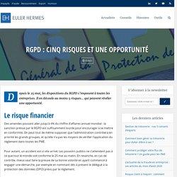 RGPD : Cinq risques et une opportunité