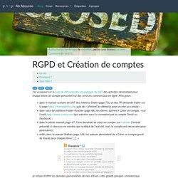 RGPD et Création de comptes — Ab Absurdo