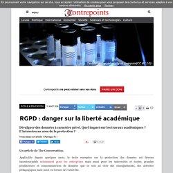 RGPD : danger sur la liberté académique
