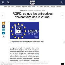 RGPD: ce que les entreprises doivent faire dès le 25 mai