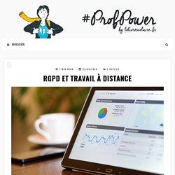 RGPD et travail à distance – #PROFPOWER