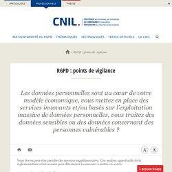 RGPD : points de vigilance