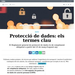 RGPD: Protecció de dades: els termesclau