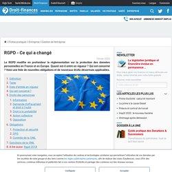 RGPD - Ce qui a changé - Droit-Finances