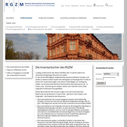 : Die Inventarbücher des RGZM