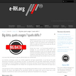 Big data, quels usages ? quels défis ?