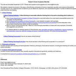 RHE's home page draft