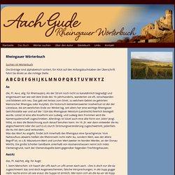 Rheingauer Wörterbuch