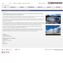 Un projet RHEINZINK remporte le Prix de l'Architecture en Grande Bretagne