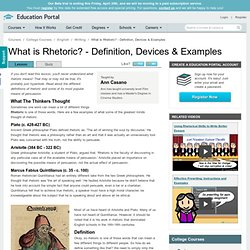 What is Rhetoric? - Definition, Devices & Examples