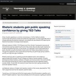 Rhetoric students gain public speaking confidence by giving TED Talks