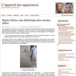 Marie-Claire, une rhétorique des savoirs utiles