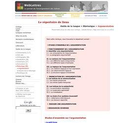 Outils de la langue > Rhétorique > Argumentation