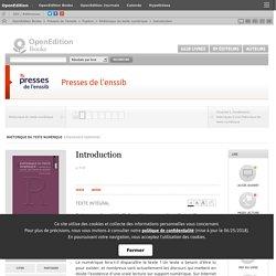 Rhétorique du texte numérique - Introduction